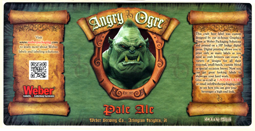 Angry Ogre Ale label