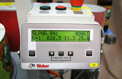 Geset 121 label applicator HMI controller