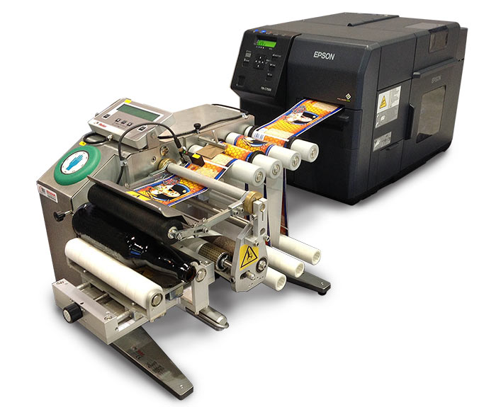 Model 141-P color label printer-applicator
