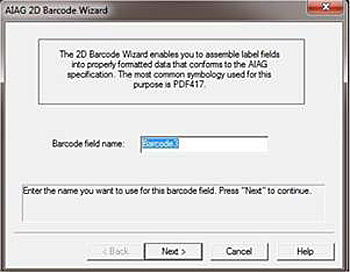 barcode wizard screen