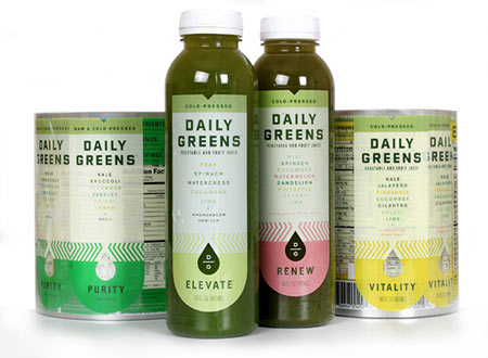 Drink Daily Greens labels from Weber