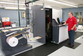 HP Indigo digital label press, short-run digital label printing