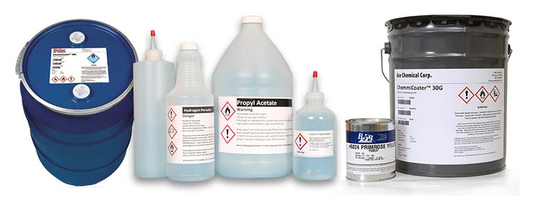 Weber Packaging Solutions manufactures high-quality custom chemical GHS labels in any size.