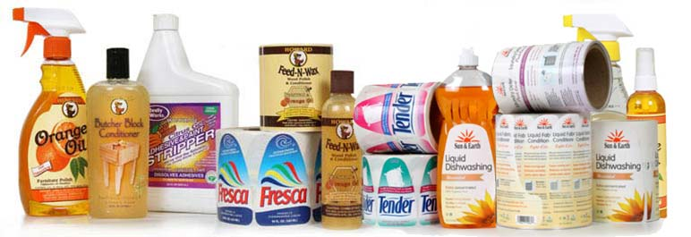 Weber Packaging Solutions manufactures high-quality custom household product labels.